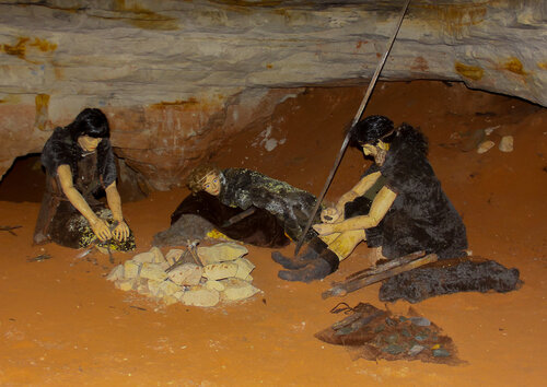 В Саблинской пещере