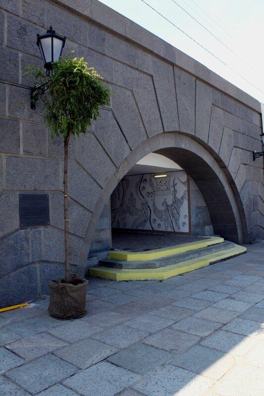 Вход в подземный переход со стороны Днепра