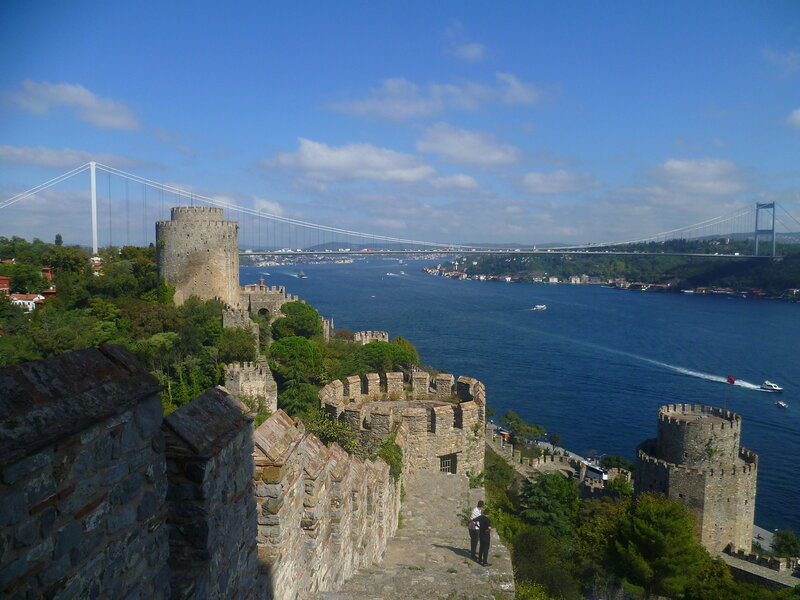 Стамбул - вид из крепости Румели (Istanbul - the view from the fortress of Rumeli).