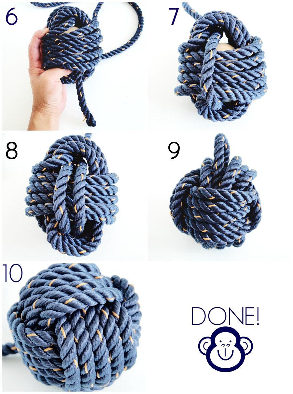 Как сделать из ниток узел