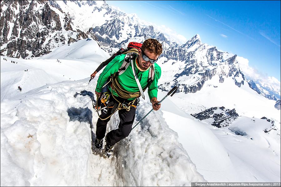Альпинисты на Монблане