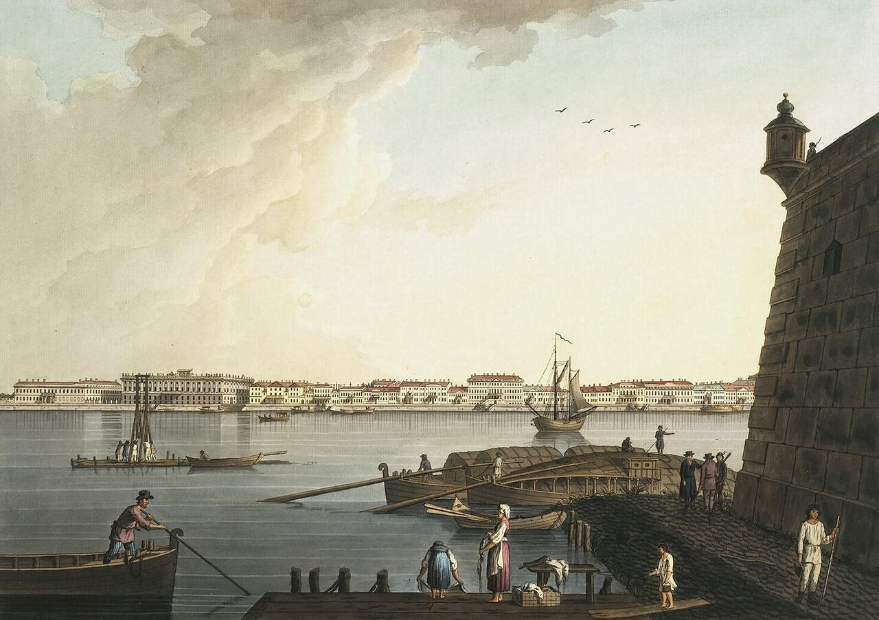 Вид на Мраморный дворец от Петропавловской крепости