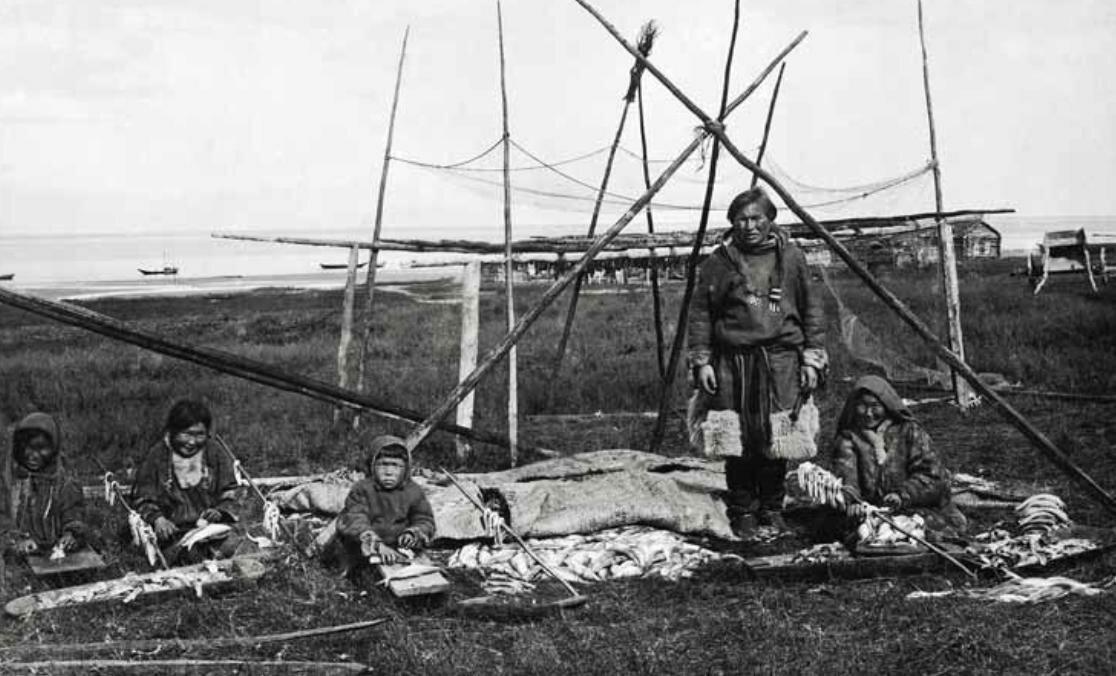 На промысле гольца, Новая Земля,1914 г.