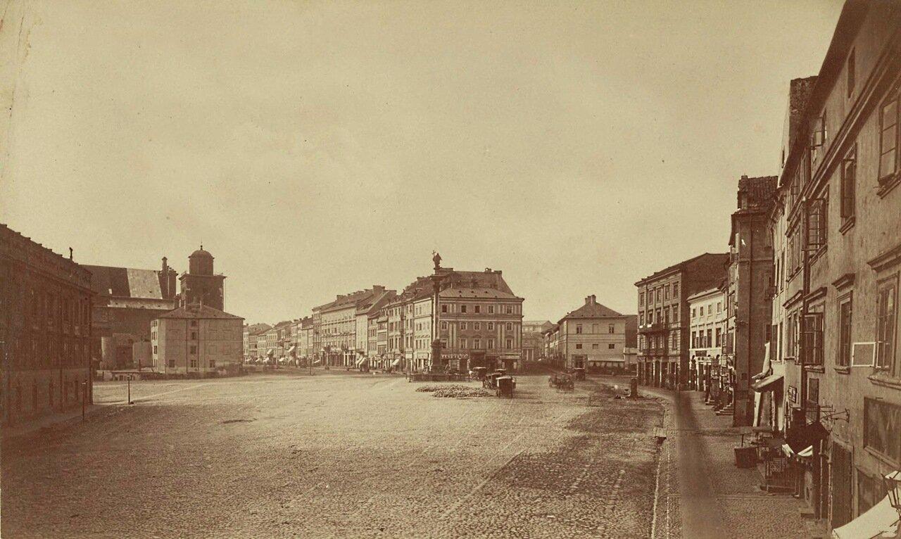 Замковая площадь. Вид на Краковское предместье 1870