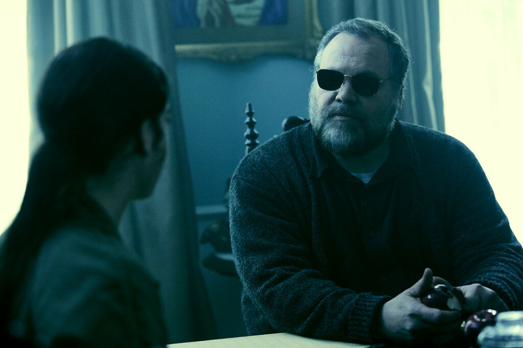 Matilda Lutz as Julia and Vincent D'Onofrio as Burke in the film RINGS by Paramount Pictures