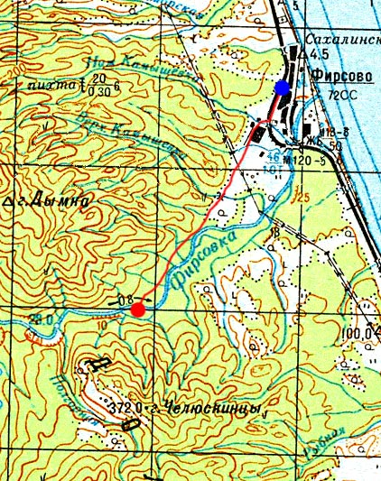 Карта маршрута 23 августа