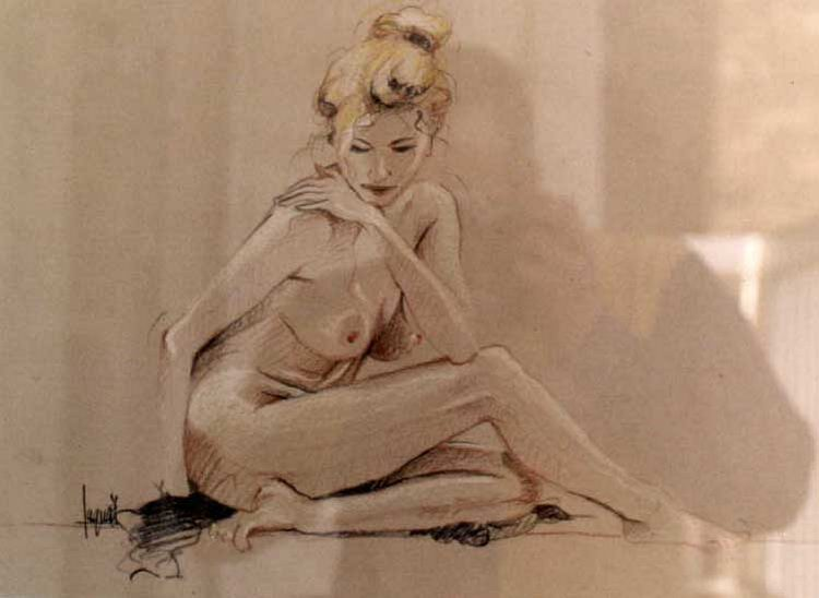 Чувственные рисунки Алена Саге