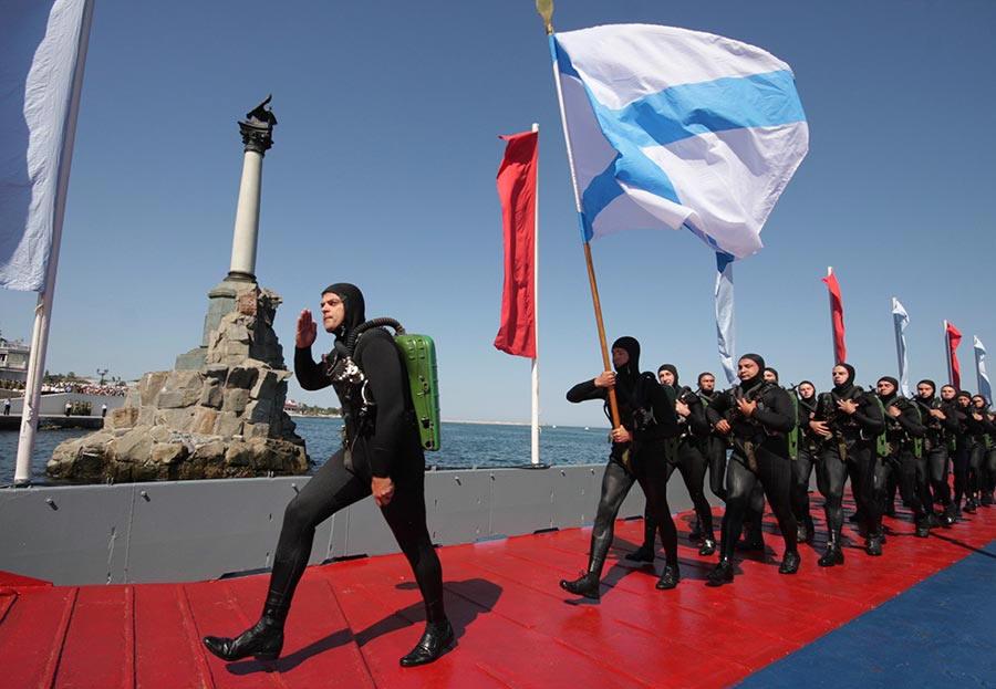 Севастополь. Военно-морской парад в день флота России