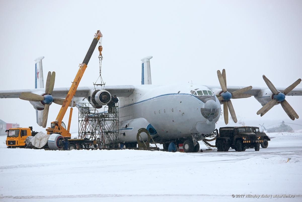 Замена двигателя у Ан-22