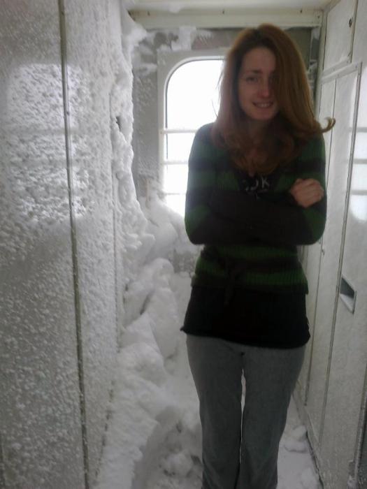 Зима в поезде. 10.