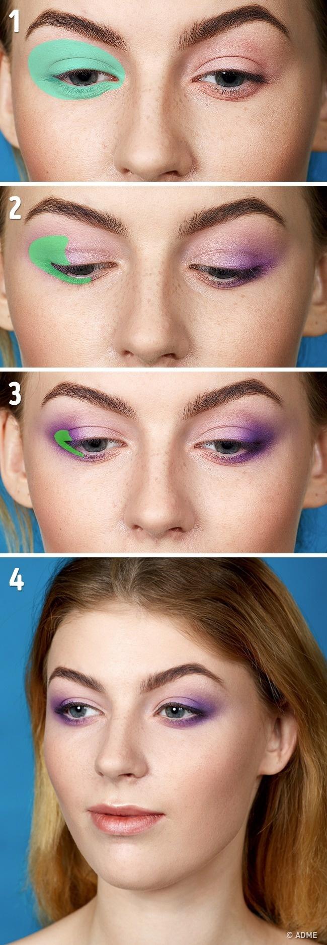 Эта техника наиболее подходит для узких глаз, так как визуально делает ихшире. Сеепомощью можно с