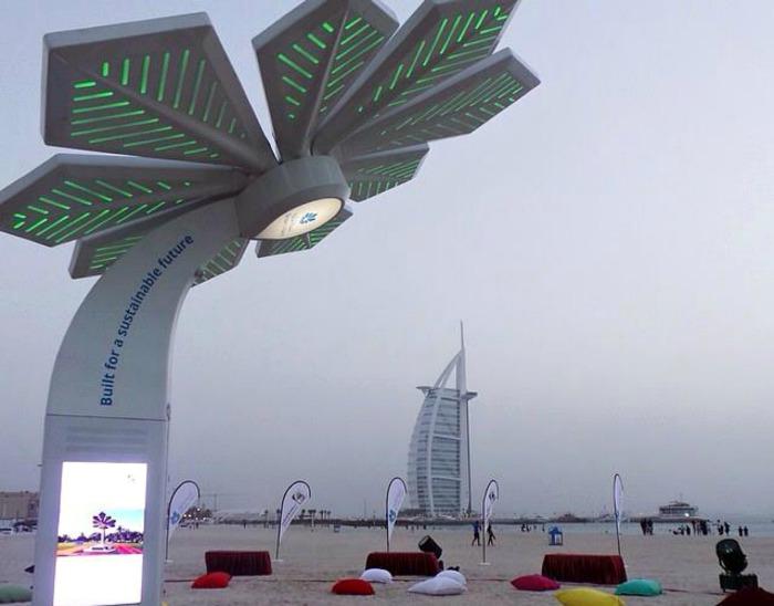 Деревья, вырабатывающие электроэнергию. В Дубае группа энтузиастов создала деревья вырабатывающие эл
