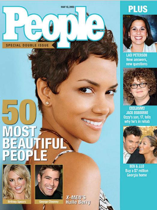 Холли Берри , 2003 год. Есть и другой вариант — быть одной из немногих темнокожих актрис, получавших