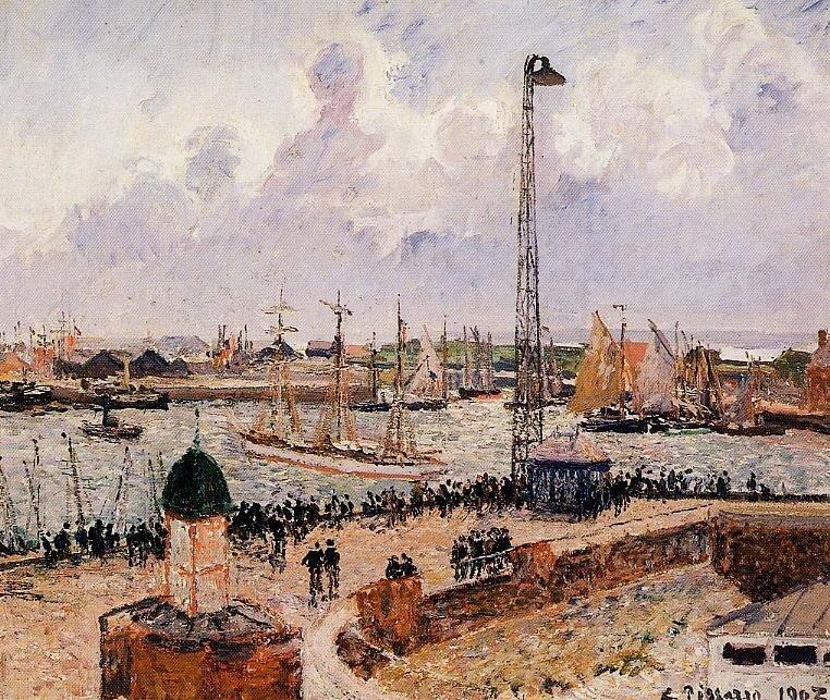Pissarro_C_The_Inner_harbor_Havre_1903