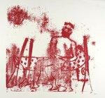 Ned Kelly Washing Feet 1963-5 by Sir Sidney Nolan 1917-1992