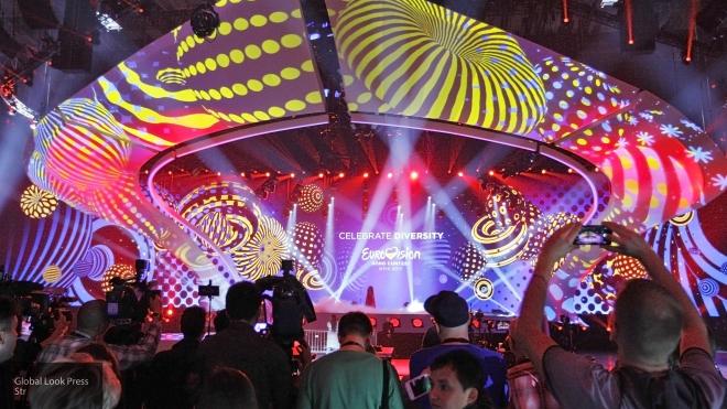 ВКиеве вандалы испортили логотип «Евровидения»