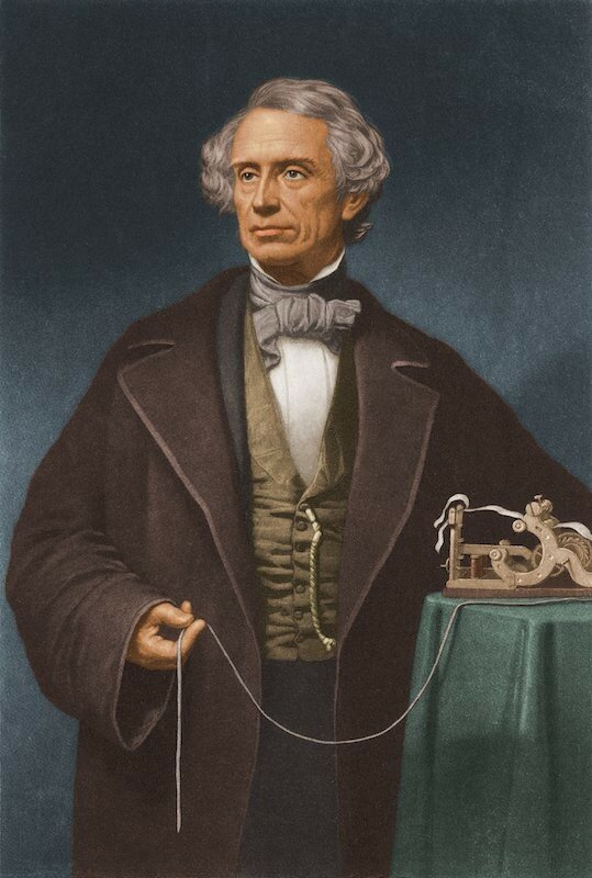 Samuel Morse With Telegraph
