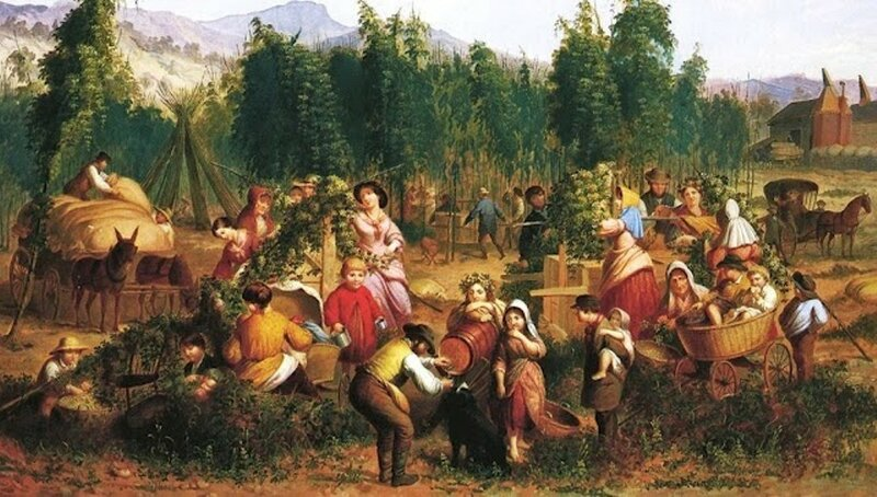 4 Thompkins H Matteson (American painter, 1813-1884) Hop Picking 1862.jpg