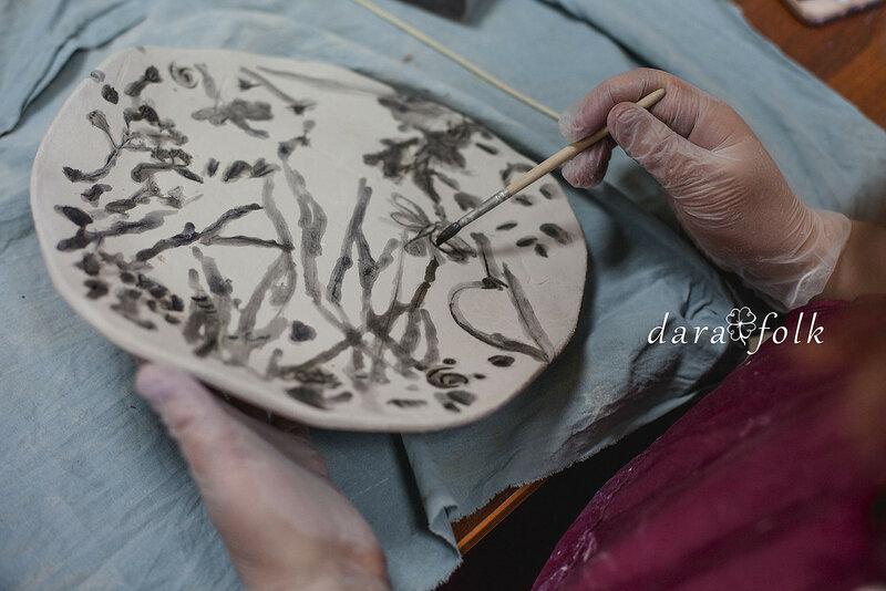 Мастер-класс по керамической тарелке.