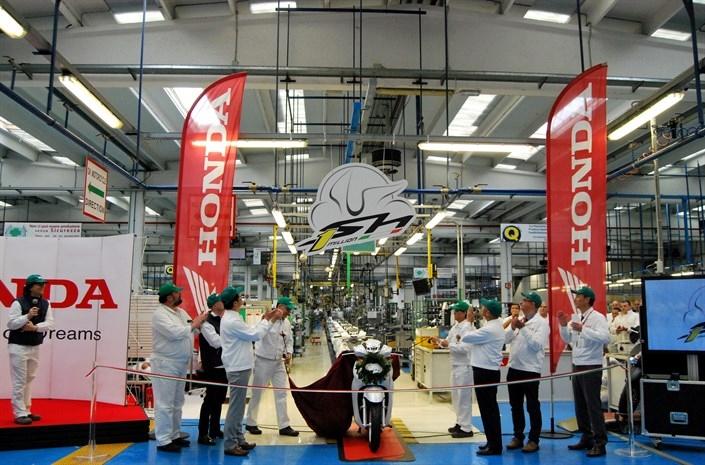 Производство скутеров Honda в Италии привысило 1 миллион ед.