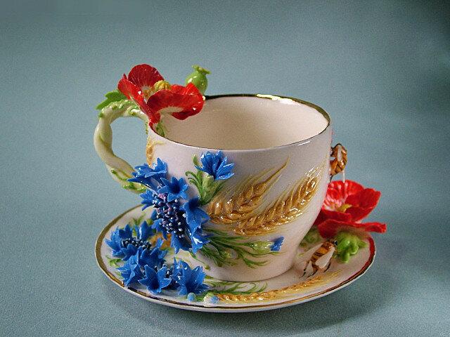 """Чайная пара """"Пшеничное поле"""""""