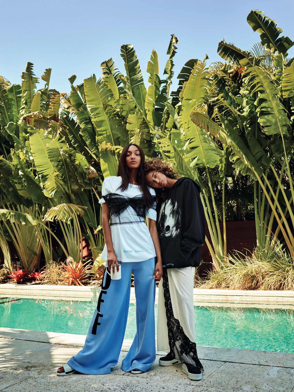Джордан Данн и Анаис Мали / Anais Mali and Jourdan Dunn by Victor Demarchelier - Glamour US june 2017