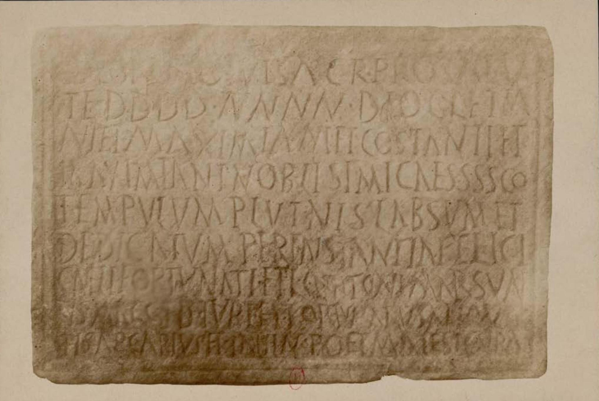 Археологическая миссия в Тунисе. Надпись
