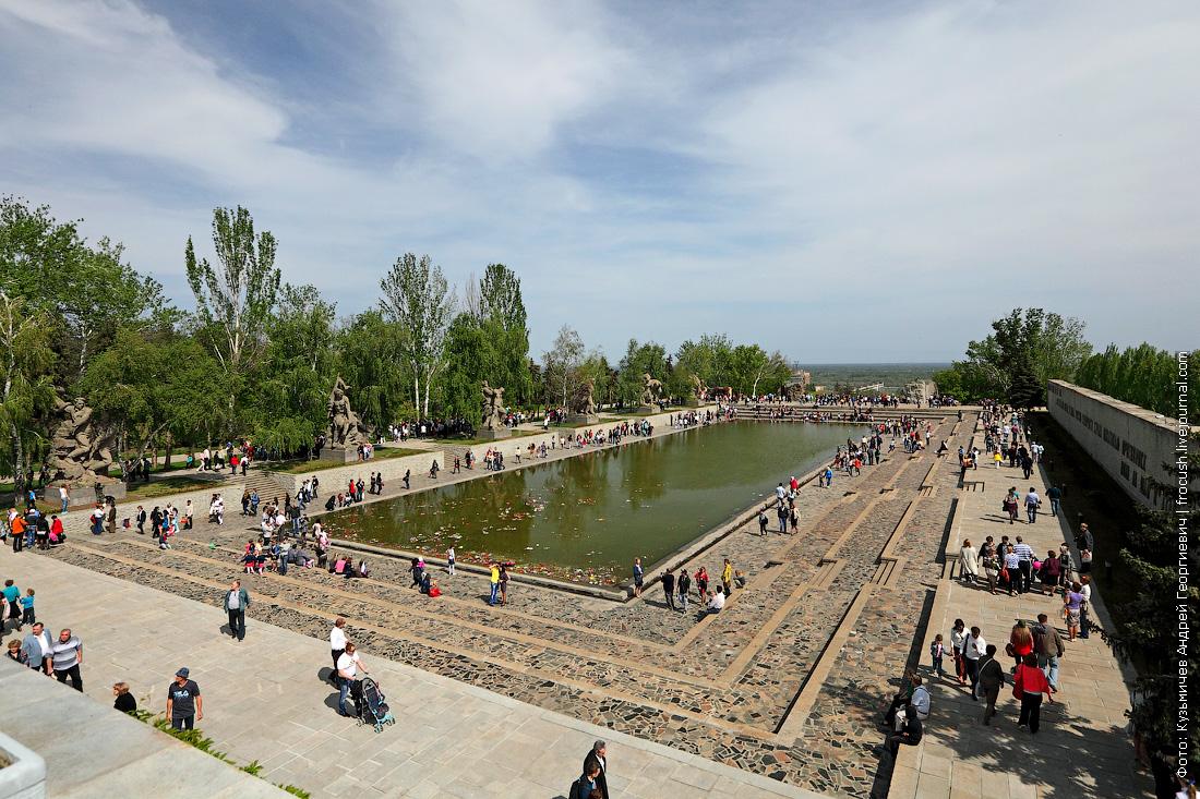 Площадь Героев с прямоугольным бассейном