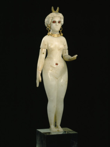 A Babylonian Alabaster Statue of Ishtar, the Goddess of Love, Dating from 350 B.C.jpg