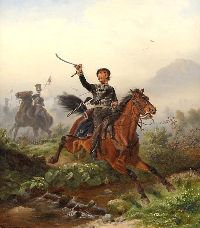 Wilhelm Camphausen Blucher als Husarenoffizie