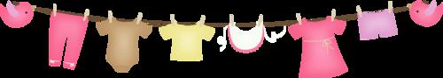 одежда на веревке