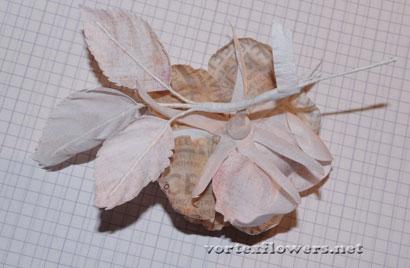 Роза из ткани с бутоном своими руками.