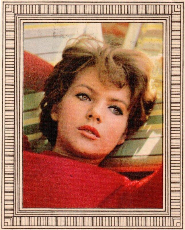 Переводная картинка из ГДР девушка Angelika Waller 1971