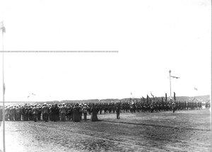Парад  полка в день его 100-летнего юбилея.