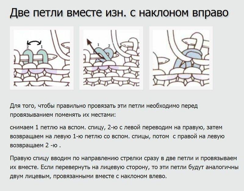 Как вязать наклон вправо и влево