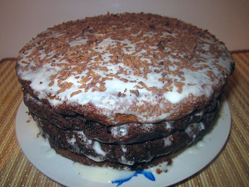 Вкуснейший сметанный тортик на скорую руку!