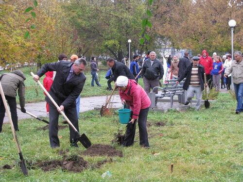 Дождливая погода не помешала проведению в Рубцовске  «зеленого субботника»