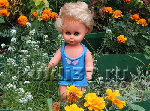 сарафан для куклы из носков