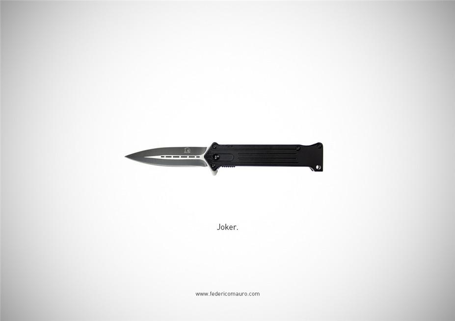 Знаменитые клинки, ножи и тесаки культовых персонажей / Famous Blades by Federico Mauro - Joker