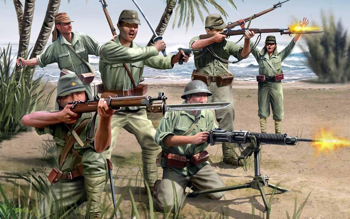 Солдаты японской пехоты