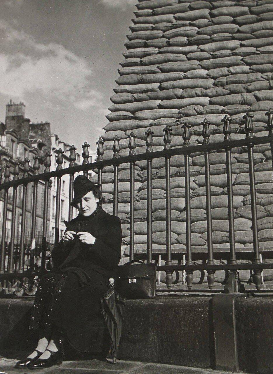 1939. Статуя Людовика XIV, Площадь Победы