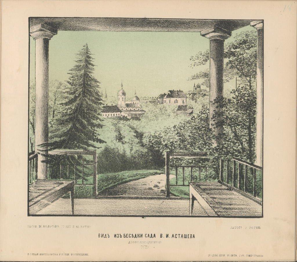 Вид из беседки сада В.И.Асташева