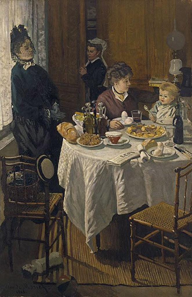 Завтрак (1868) Клод Моне(1840-1926)