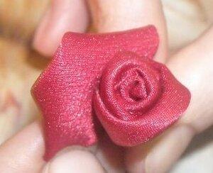 МК. Роза в технике канзаши 0_d5db0_f84ea341_M
