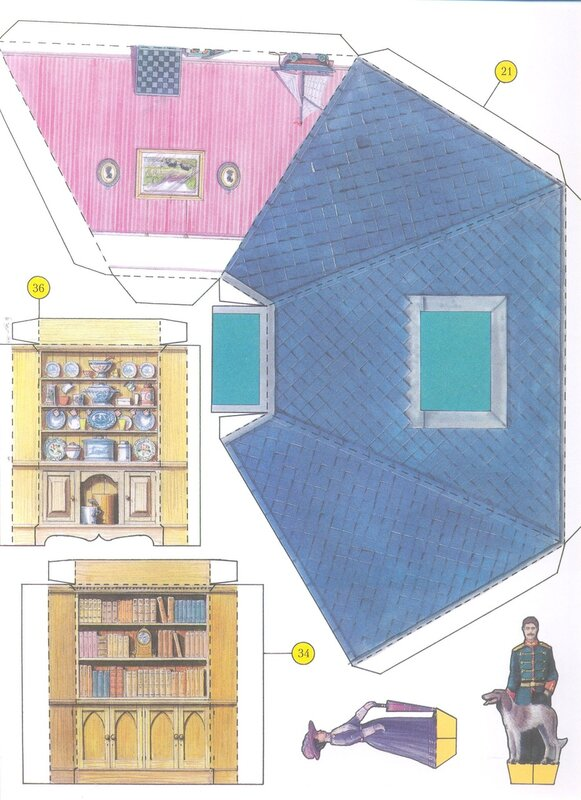 Сделать своими руками игрушечный домик из бумаги своими руками