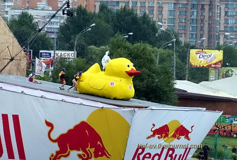Туалетный утенок, Red Bull Flugtag 2013, Москва