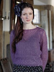 Rossini - лиловая паутинка спицами от Sarah Hatton