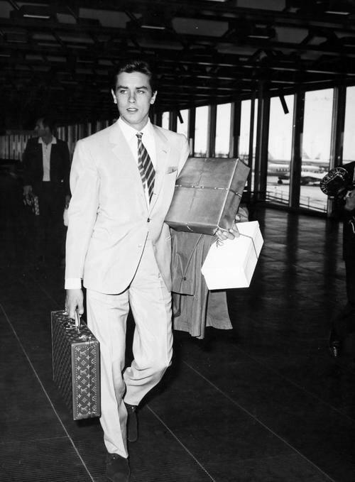 Alain Delon at the airport