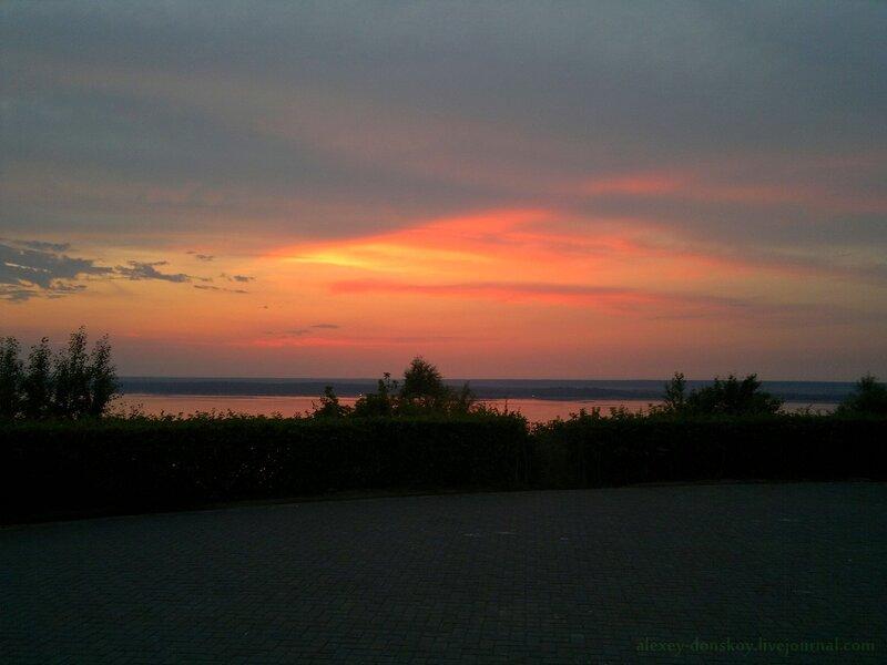 2013.07.06 закат над Волгой