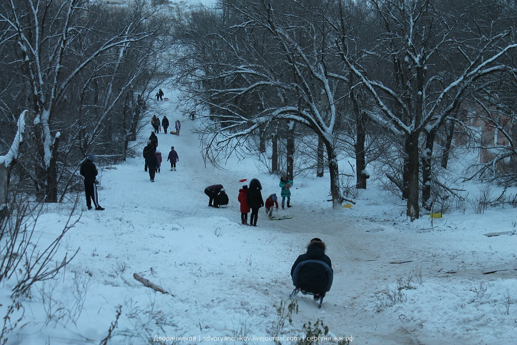 Волжский - 7 января - прогулка